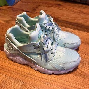 Turquoise hurrache sneakers
